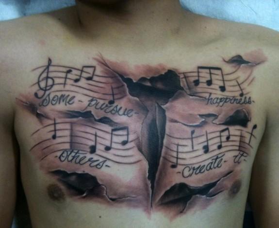 Tatuagens com o tema música (55)
