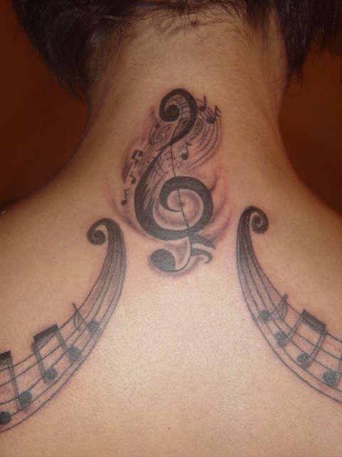 Tatuagens com o tema música (54)