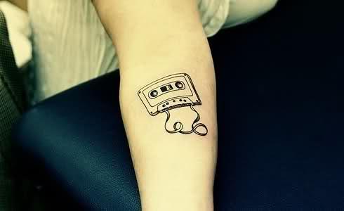Tatuagens com o tema música (48)