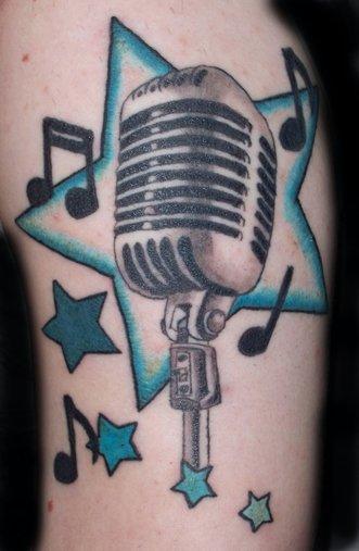 Tatuagens com o tema música (41)