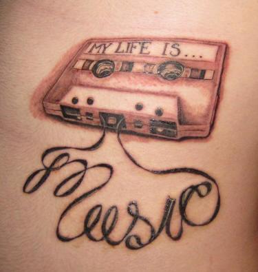 Tatuagens com o tema música (34)