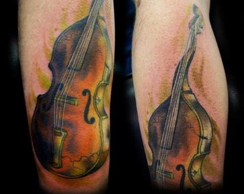 Tatuagens com o tema música (30)