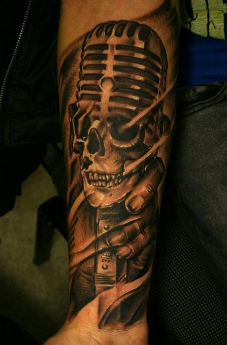 Tatuagens com o tema música (23)