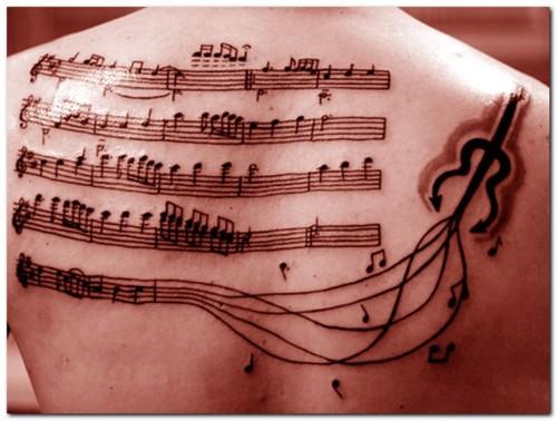 Tatuagens com o tema música (22)