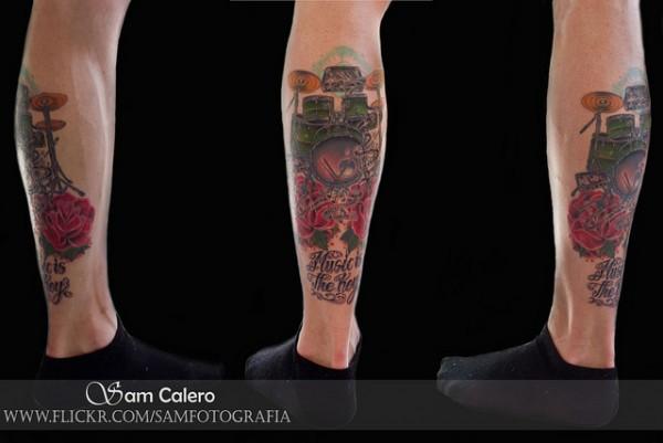 Tatuagens com o tema música (13)