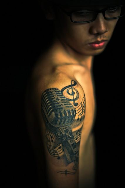 Tatuagens com o tema música (1)