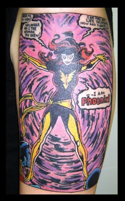 Tatuagens com a Jean Grey de X-Men (15)