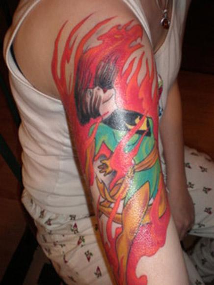 Tatuagens com a Jean Grey de X-Men (7)
