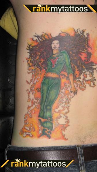 Tatuagens com a Jean Grey de X-Men (6)