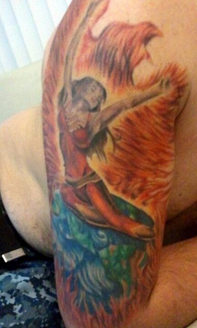 Tatuagens com a Jean Grey de X-Men (3)