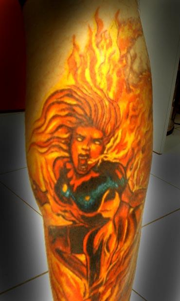 Tatuagens com a Jean Grey de X-Men (1)