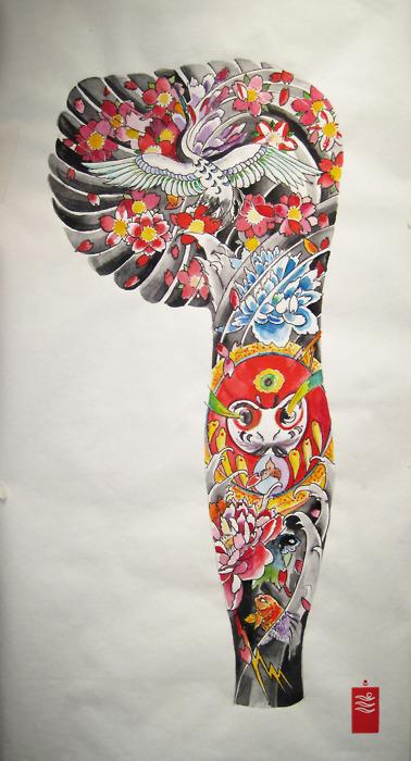 Tatuagens de bonecos de Daruma (40)