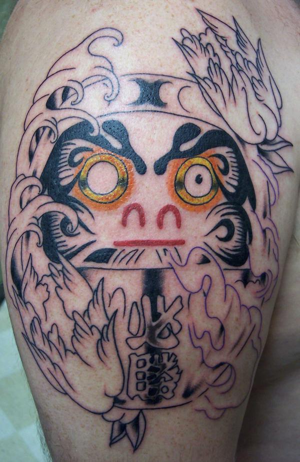 Tatuagens de bonecos de Daruma (38)