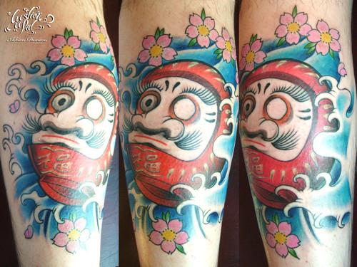 Tatuagens de bonecos de Daruma (10)