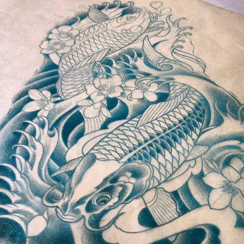 Koi Carp Tattoo (55)