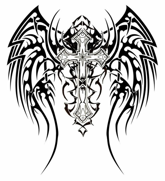 Tatuagens de cruzes e símbolos cristãos (38)