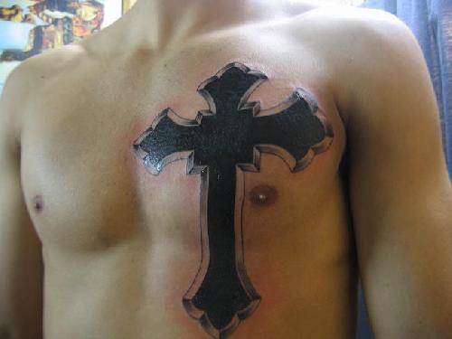 Tatuagens de cruzes e símbolos cristãos (22)
