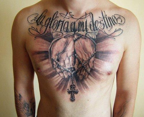Tatuagens de cruzes e símbolos cristãos (6)