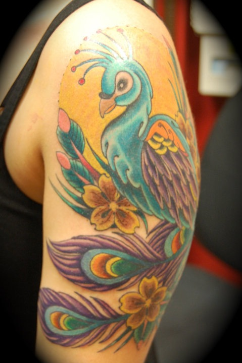 Peacock Tattoo (50)