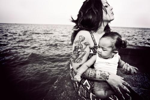Papais e Mamães Tatuados com seus filhos (7)