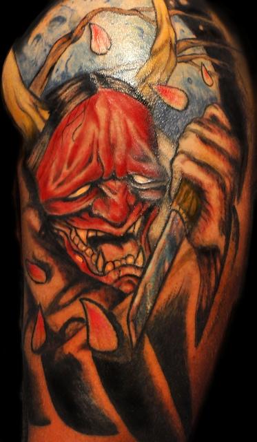 Hannya Mask Tattoo (50)