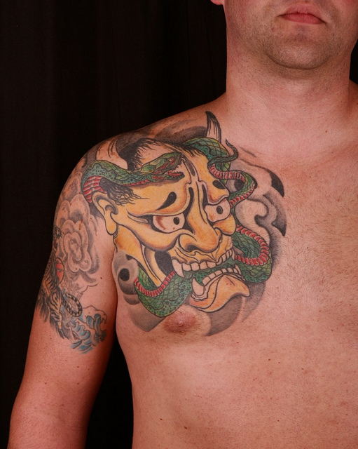 Hannya Mask Tattoo (25)