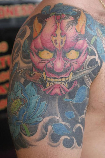 Hannya Mask Tattoo (18)