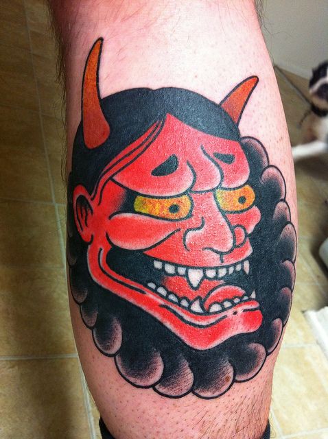 Hannya Mask Tattoo (16)
