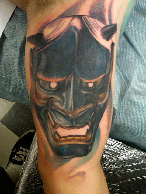 Hannya Mask Tattoo (14)