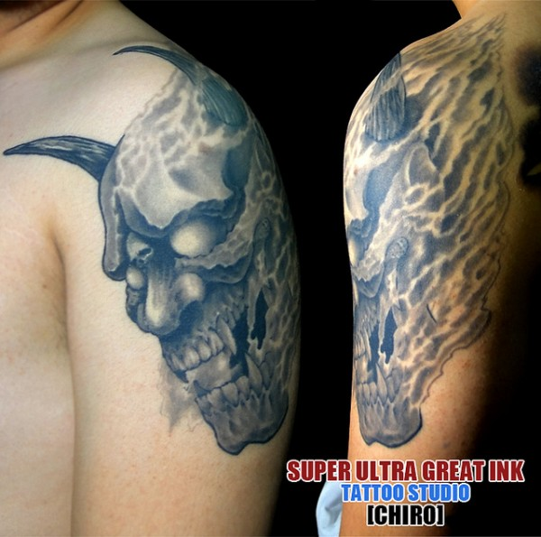Hannya Mask Tattoo (13)