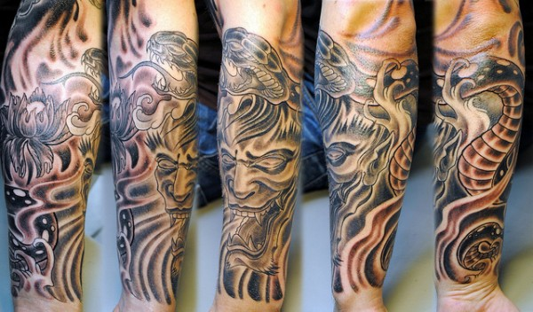 Hannya Mask Tattoo (11)