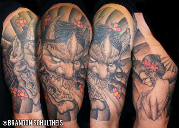 Hannya Mask Tattoo (10)