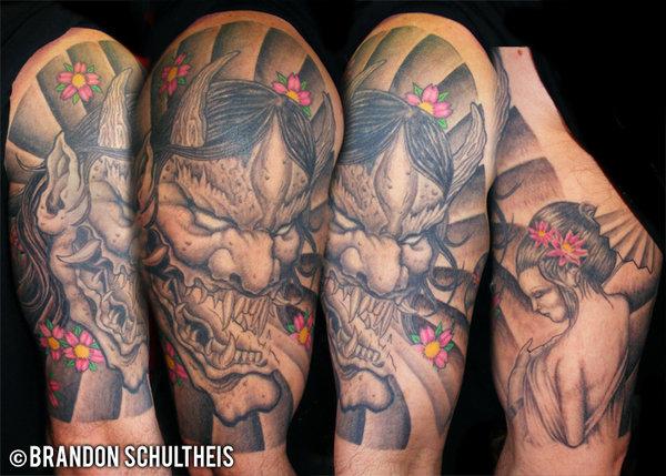 Hannya Mask Tattoo (10)