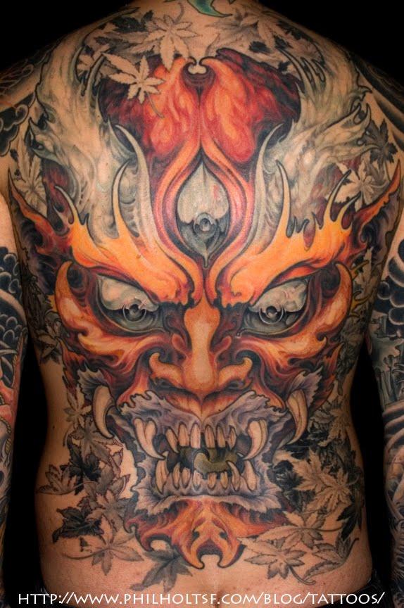 Hannya Mask Tattoo (8)