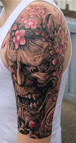 Hannya Mask Tattoo (7)
