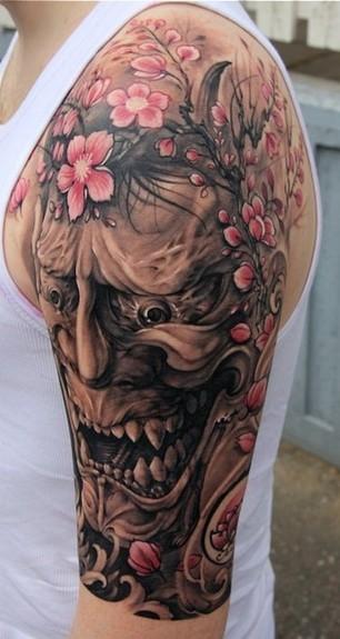 Hannya Mask Tattoo (7)