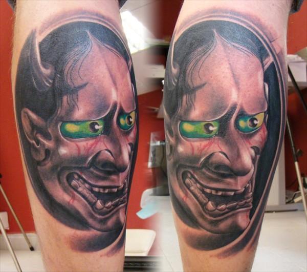 Hannya Mask Tattoo (6)