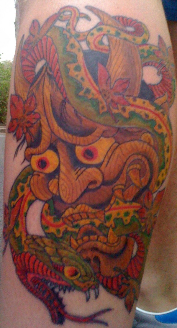 Hannya Mask Tattoo (4)