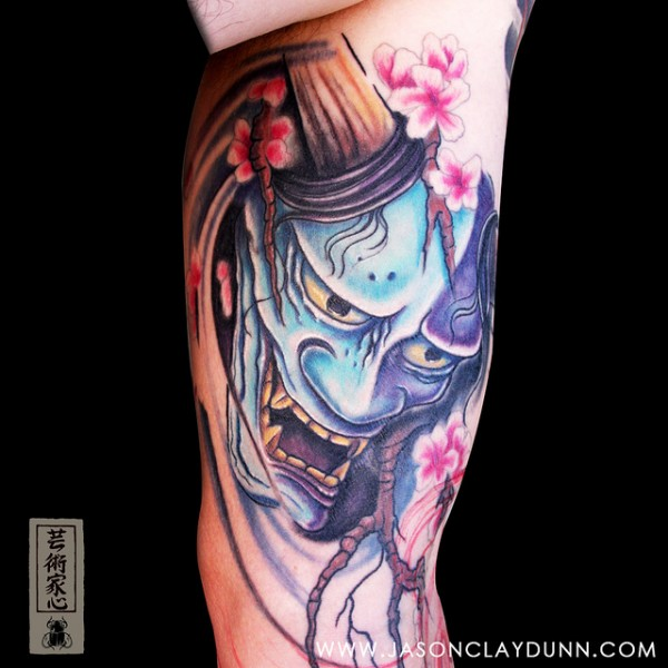 Hannya Mask Tattoo (3)