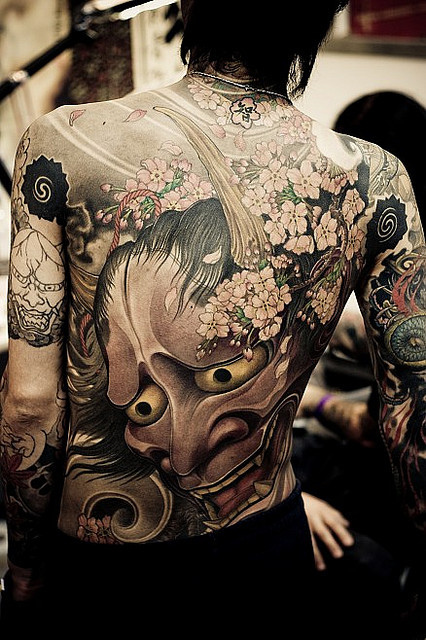 Hannya Mask Tattoo (2)