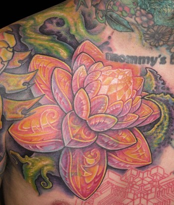 Lotus Flower Tattoo (46)