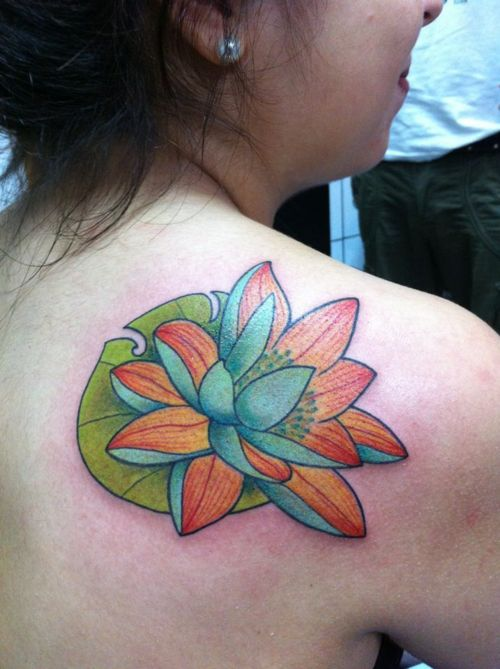 Lotus Flower Tattoo (32)