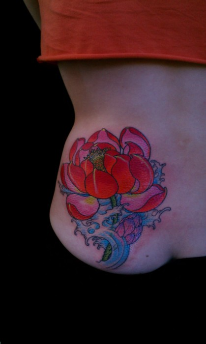 Lotus Flower Tattoo (23)