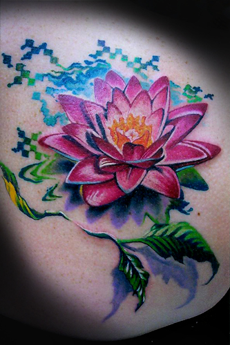 Lotus Flower Tattoo (9)
