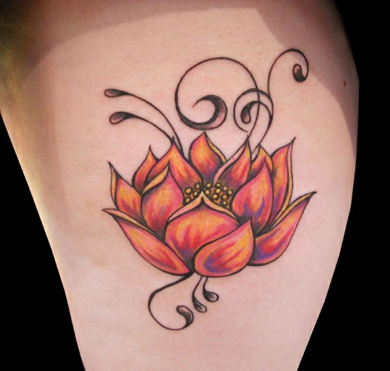 Lotus Flower Tattoo (4)