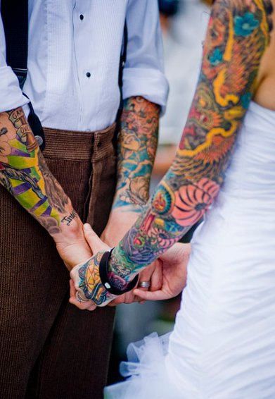 Fotos de casamentos de tatuados - Weddings tattooed (31)