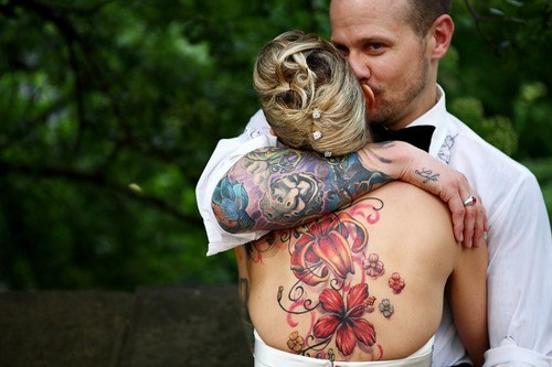 Fotos de casamentos de tatuados - Weddings tattooed (12)