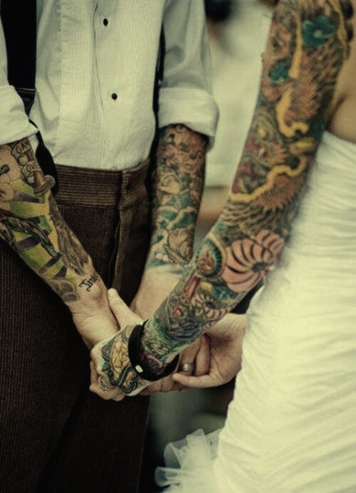 Fotos de casamentos de tatuados - Weddings tattooed (6)