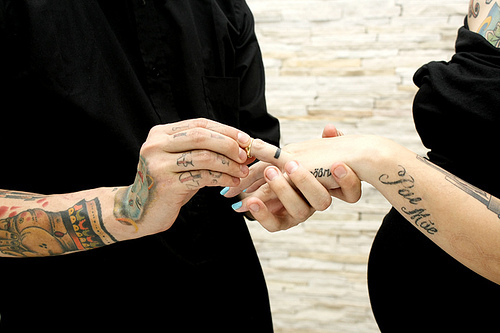 Fotos de casamentos de tatuados - Weddings tattooed (3)
