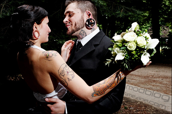Fotos de casamentos de tatuados - Weddings tattooed (1)